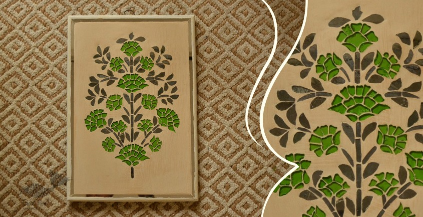 आइना महल ♣ Mirror Inlay ♣ Wall Hangings ♣ Flowers . A