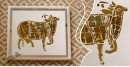 आइना महल ♣ Mirror Inlay ♣ Wall Hangings ♣ Cow. A