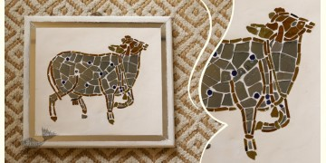 आइना महल ♣ Mirror Inlay ♣ Wall Hangings ♣ Cow. B