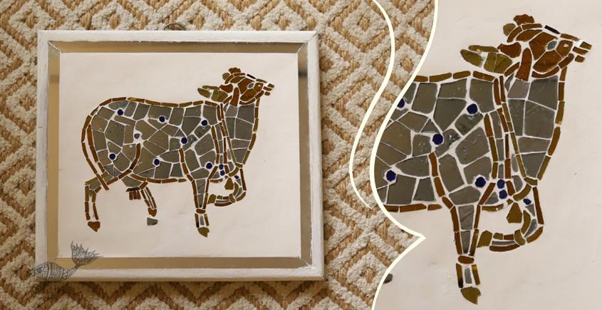 आइना महल ♣ Mirror Inlay ♣ Wall Hangings ♣ Cow. B