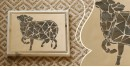 आइना महल ♣ Mirror Inlay ♣ Wall Hangings ♣ Cow. C