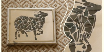 आइना महल ♣ Mirror Inlay ♣ Wall Hangings ♣ Cow. D