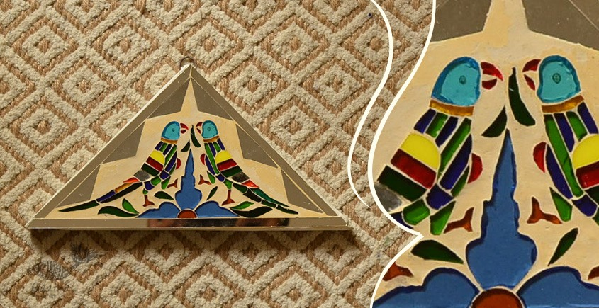 आइना महल ♣ Mirror Inlay ♣ Wall Hangings ♣ Parrots