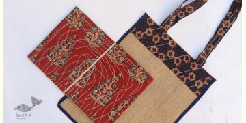 Getting carried away ~ Handmade Jute bag + Pothi Folder ~ 2