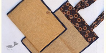 Getting carried away ~ Handmade Jute bag + Jute File Folder ~ 7