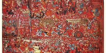 Tholu Bommalata ✪ Leather Painting ✪ Sri Krishna Leela Painting