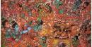 buy online leather painting - Rama Ravana Yuddham Painting