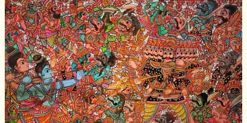 Tholu Bommalata ✪ Leather Painting ✪ Rama Ravana Yuddham Painting