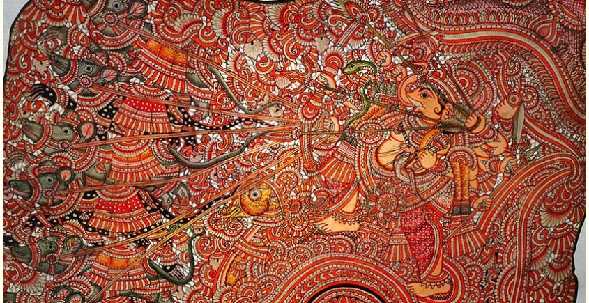 buy online leather painting - Vignesha Painting