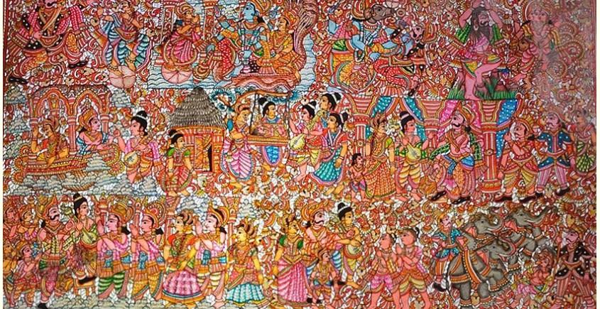 buy online leather painting - Bhaktha Prahalada Painting