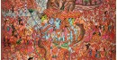 buy online leather painting -  Sri Vishnu Viswarupam Painting
