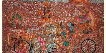Tholu Bommalata ✪ Leather Painting ✪ Karna Arjuna Yuddham  Painting