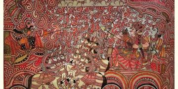 Tholu Bommalata ✪ Leather Painting ✪ Narakasura Vodha Painting