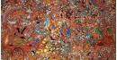 buy online leather painting - Bheeshma Arjuna Yuddham Painting