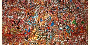 Tholu Bommalata ✪ Leather Painting ✪ Bheeshma Arjuna Yuddham Painting