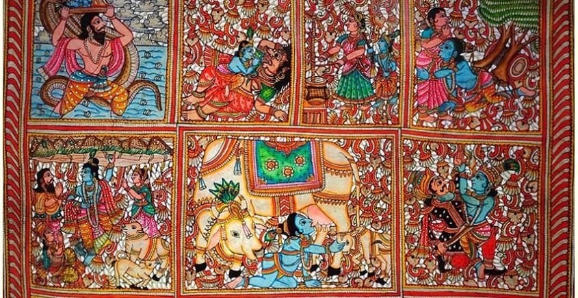 Tholu Bommalata ✪ Leather Painting ✪ Sri Krishna Leela Painting-A