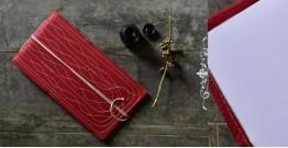 Bahi khata Red diary ☙ 31 { 11.5 X 8 in }