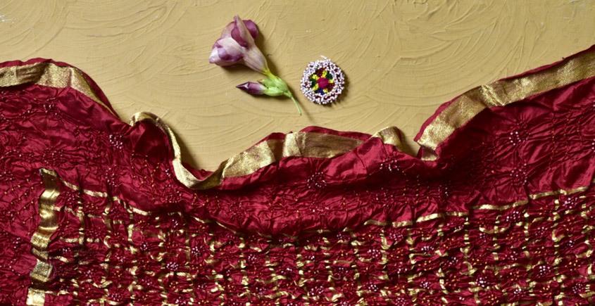 shop online silk bandhni dupatta