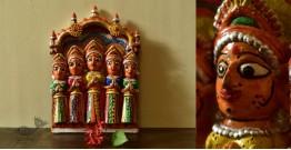 Molela ❉ Terracotta Plaques ❉ Five Devi