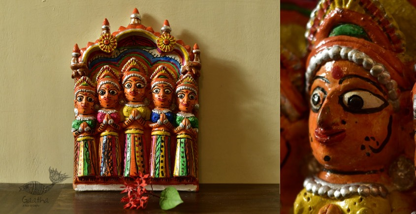 Mitti ki murti - handmade Molela terracotta god goddess idols -