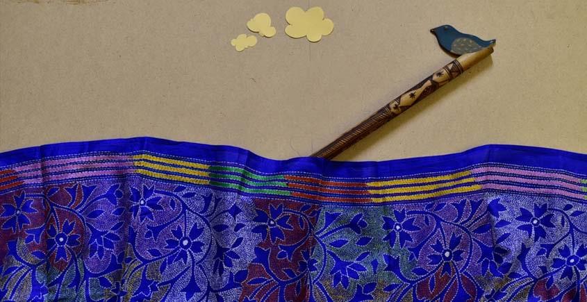 Kantha Banglore Silk Stole 16