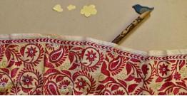 Swara . स्वरा ✽ Kantha Tassar Silk Stole ✽ 19