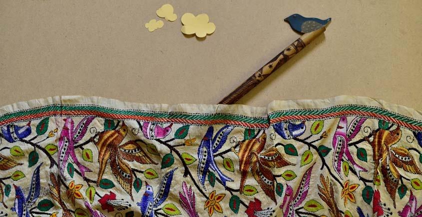Kantha Tassar Silk Stole 23