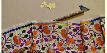 Swara . स्वरा ✽ Kantha Tassar Silk Stole ✽ 24