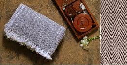Swavalamban ◉ Handwoven ◉ Cotton Bed Throw ◉  8 { Grey }