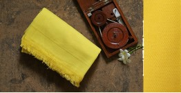 Swavalamban ◉ Handwoven ◉ Cotton Bed Throw ◉ 11 { Yellow }
