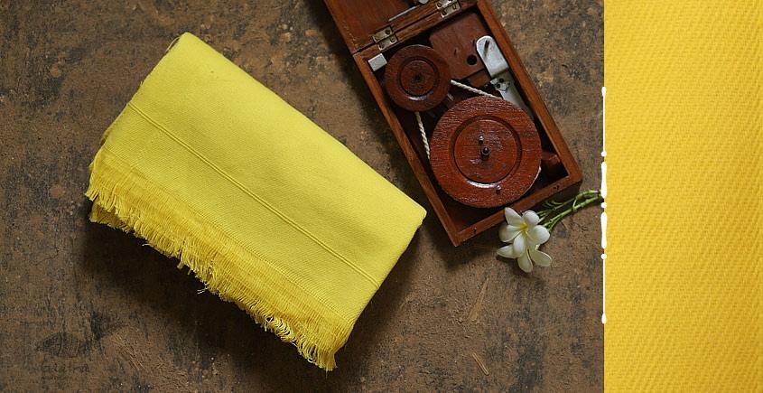 Swavalamban ◉ Handwoven ◉ Cotton Bed Throw ◉ 11 { Yellow }