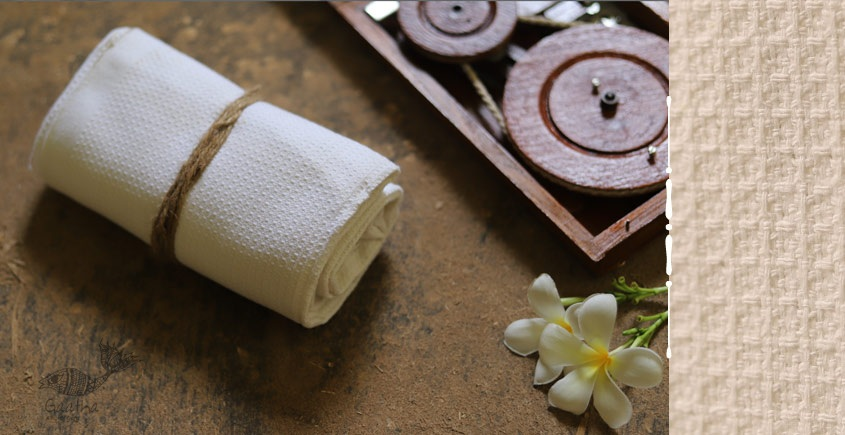 Swavalamban ◉ Handwoven ◉ Cotton Towel ◉ 5 { white }