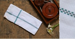 Swavalamban ◉ Handwoven ◉ Cotton Napkins ◉ 2 { white }