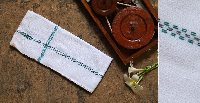 Swavalamban ◉ Handwoven ◉ Cotton Napkins ◉ 2 { white }