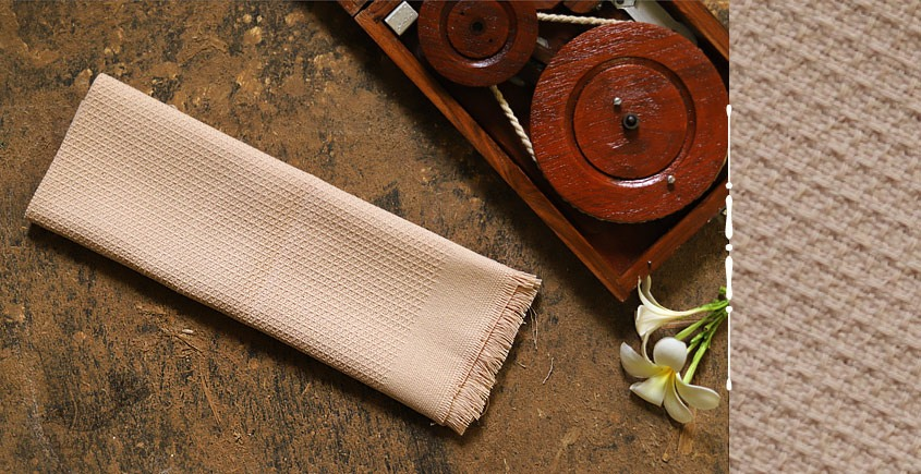 Swavalamban ◉ Handwoven ◉ Cotton Napkins ◉ 3 { cream }