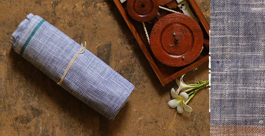 Swavalamban ◉ Handwoven ◉ Cotton Towel / Lungi - Gray 13