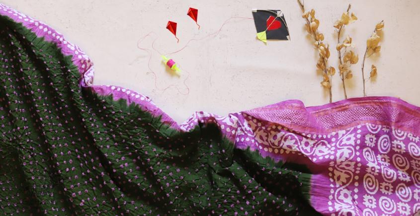 पौष ❈ Batic Bandhani  ❈ Cotton Saree ❈ 11