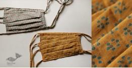 Be safe & stylish ✜ Mul Cotton Layered Mask ( Set of 4 ) ✜ Q