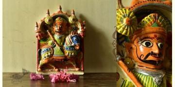 Molela ❉ Terracotta Plaques ❉ Bhathiji Maharaj statue