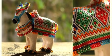 शुभ लाभ ⁂ Wooden | Glass Bead ⁂ Cow ( Single piece ) ⁂ 11A