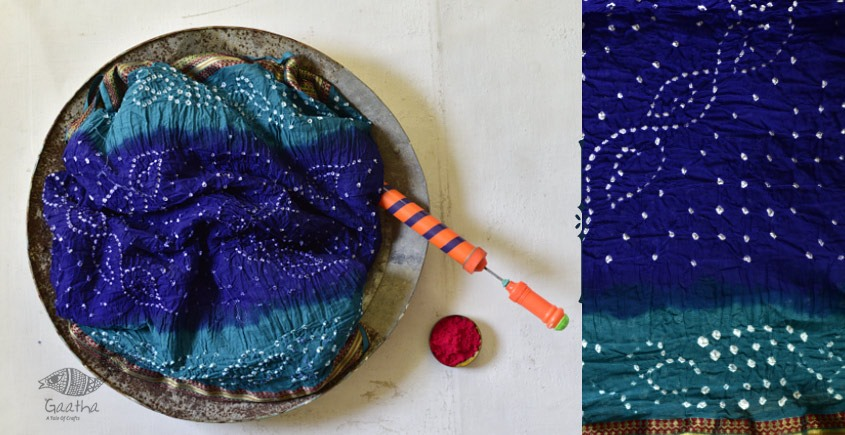 Faagun . फाल्गुन  ⁂ Cotton Bandhani Saree ⁂ 5