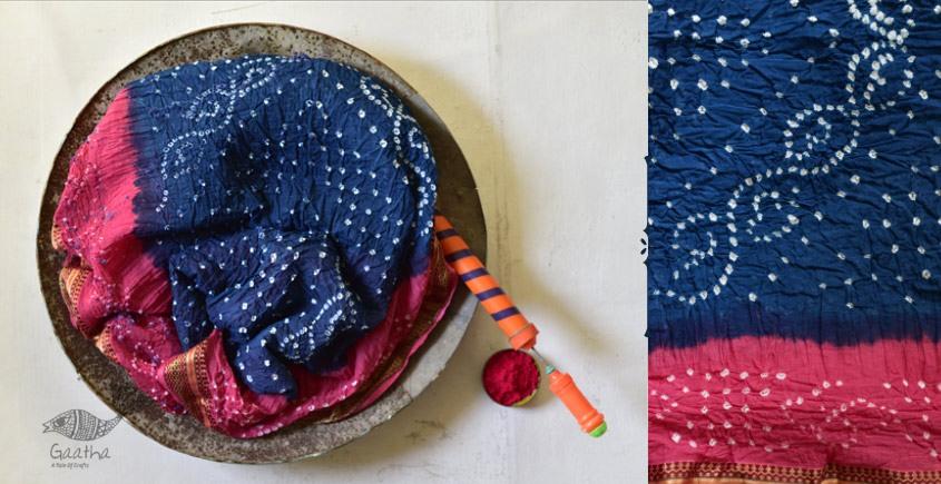 Faagun . फाल्गुन  ⁂ Cotton Bandhani Saree ⁂ 8