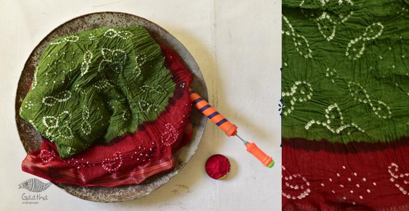 Faagun . फाल्गुन  ⁂ Cotton Bandhani Saree ⁂ 10