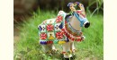 Decorative cow with bead work from Saurashtra