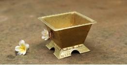 "Ahar ✽ Brass ~ Havankund ( 5"" x 5"" x 3.2"" Small )"