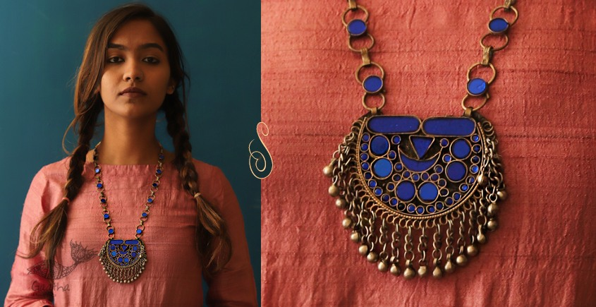 Afghani jewelry with glass inlay