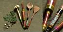 Rasoi ✯ Kutch lacquer ladles { Set of Four } ✯ 2