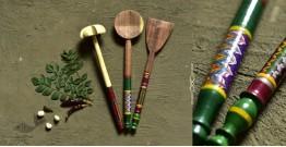 Rasoi ✯ Kutch lacquer ladles { Set of Three} ✯ 3