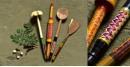 Rasoi ✯ Kutch lacquer ladles { Set of Four } ✯ 4