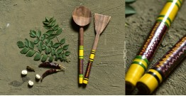 Rasoi ✯ Kutch lacquer ladles { Set of Two } ✯ 8